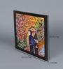Krish Art Canvas & Acrylic 10.5 x 1.5 x 8.5 Inch Couple with Umbrella Original Framed Painting