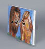 Krish Art Canvas & Acrylic 12 x 1.5 x 7 Inch Lion Couple Original Framed Painting