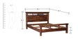 Lanford Queen Size Bed in Provincial Teak Finish by Amberville