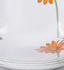La Opal Diva Crimson Bloom Opal Ware Quarter Plate Set of 6