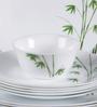 La Opala Diva Green Foliage Opal Ware 21-piece Dinner Set