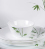 La Opala Diva Green Foliage Opal Ware 33-piece Dinner Set