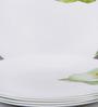 La Opala Diva Ivory Blush Opal Ware Full Plate - Set of 6