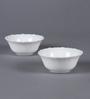 La Opala Diva Plain Fluted Opal Ware Bowls - Set Of 6
