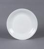 La Opala Diva Plain Round Opal Ware Rice Plate