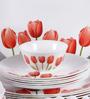 La Opala Diva Tulip Garden Opal Ware 33-piece Dinner Set