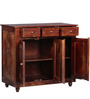 Cashmere Solid Wood Cabinet in Provincial Teak Finish by Woodsworth
