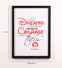 Lab No.4 - The Quotography Department Paper & PU Frame 13 x 0.7 x 17.5 Inch All Our Dreams Walt Disney Framed Poster
