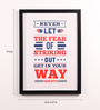 Lab No.4 - The Quotography Department Paper & PU Frame 13 x 0.7 x 17.5 Inch Babe Ruth Quotes Framed Poster