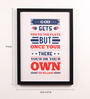 Lab No.4 - The Quotography Department Paper & PU Frame 13 x 0.7 x 17.5 Inch Baseball Player Quotes Framed Poster