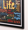 Lab No.4 - The Quotography Department Paper & PU Frame 13 x 0.7 x 17.5 Inch Life Motivational Quotes Framed Poster
