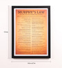 Lab No.4 - The Quotography Department Paper & PU Frame 13 x 0.7 x 17.5 Inch Murphy's Law Framed Poster