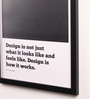 Lab No.4 - The Quotography Department Paper & PU Frame 13 x 0.7 x 17.5 Inch Steve Jobs Framed Poster