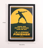 Lab No.4 - The Quotography Department Paper & PU Frame 13 x 0.7 x 17.5 Inch Usain Bolt Sport Quotes Framed Poster