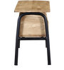 Lacnor Bench in Natural Finish by Bohemiana