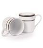 Lakline White and Grey Porcelain Mug - Set of 2