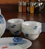Laopala Diva Blue Poppies Dinner Set - 27 Pcs