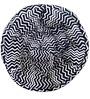 ORGANIC COTTON  Lap Pouffe in Black & White Colour by Reme