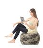 Large Cotton Canvas Camouflage Design (Square Shaped) Ottoman Cover Only by Style Homez