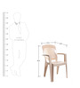 Laurel Arm Chair Set of Two in Beige Colour by Cello