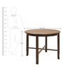 Lauren Four Seater Dining Table in Brown Colour by @home