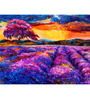 Hashtag Decor Lavender Fields Engineered Wood 30 x 20 Inch Framed Art Panel