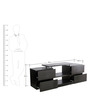 LCD Entertainment Unit with Four Drawers in Walnut Colour by Eros