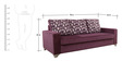 Lexus Sofa Set Purple 3+1+1 in Purple Color by Arra