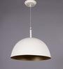 LeArc Designer Lighting White & Gold Aluminium Pendant