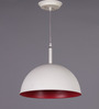 LeArc Designer Lighting White & Pink Aluminium Pendant Light
