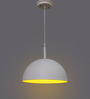 Learc Designer Lighting White & Yellow Aluminium Pendant Light