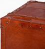 Leather Single Door Vintage Brown Bar Cabinet by Studio Ochre