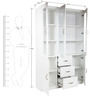 Legacy  Bookcase in White Colour by HomeTown
