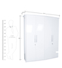 Legend Four Door Wardrobe in White Colour by HomeTown