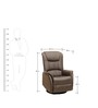 Leisure Man Brown Recliner Chair in Brown Colour by Royal Oak