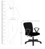Leno Ergonomic Chair in Black Colour by VOF