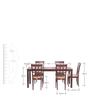 Leo Six Seater Dining Set in Indian Mahogany Finish by Godrej Interio