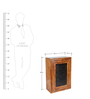 Leopold Wall Cabinet in Brown Colour by HomeTown