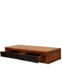 Leopold Wall Mount Study Table in Walnut & Black Colour by HomeTown