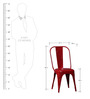 Letseng Six Seater Dining Set in Red Color by Bohemiana