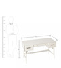 Lewis Mid Century Study Table in White Colour by Asian Arts