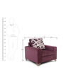 Lexus One Seater Sofa in Purple Colour by ARRA