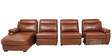 LHS Sofa with Motorized Recliner with Pure Leather in Tan Brown Colour by Star India
