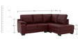 LHS Three Seater Sectional Sofa in Brown Colour by Afydecor