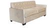 Liberty Sofa Set (3+1+1) in Velvet Beige Color by ARRA