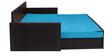 Libford Sofa cum Bed in Sky Blue Colour by Auspicious Home