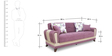 Lima Three Seater Sofa cum Bed in Grape Wine Colour by Urban Living