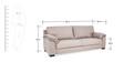 Lisbon Three Seater Sofa in Beige Colour by Urban Living