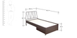 Liva Single Bed with Storage with Jive Headboard in Wine Red Finish by Godrej Interio