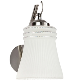Lime Light White Glass And Wood Wall Mounted Light - 1498191